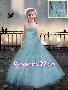 Lovely Beading Mini Quinceanera Dresses in Light Blue
