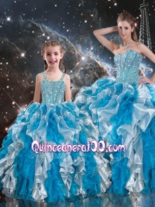 2016 Luxurious Ball Gown Sweetheart Multi Color Macthing Sister Dresses