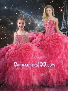 2016 Pretty Ball Gown Sweetheart Macthing Sister Dresses with Beading