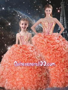 Beautiful Ball Gown Sweetheart Macthing Sister Dresses with Beading