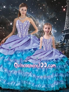 New Arrivals Ball Gown Beading and Ruffled Layers Macthing Sister Dresses