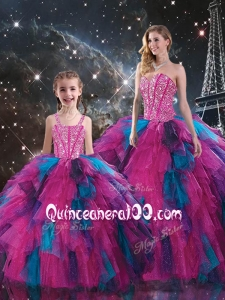New Style Sweetheart Beading Macthing Sister Dresses in Multi Color