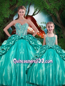 Pretty Ball Gown Sweetheart Beading Macthing Sister Dresses