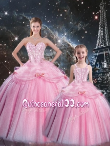 Wonderful Ball Gown Macthing Sister Dress with Beading