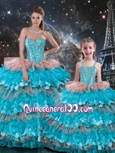 Wonderful Ball Gown Ruffled Layers Macthing Sister Dresses for 2016