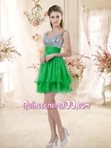 Discount Short Straps Dama Dresses with Sequins for Fall