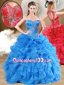 New Arrivals Ball Gown Sweet 16 Gowns with Beading and Ruffles