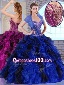 Super Hot Ball Gown Appliques and Ruffles Quinceanera Dresses for Fall