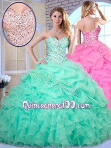 2016 Beautiful Ball Gown Beading and Pick Ups Quinceanera Dresses