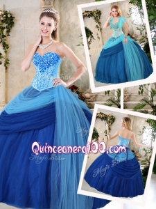 2016 Beautiful Sweetheart Beading Quinceanera Gowns for Fall