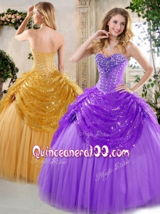 2016 New Style Ball Gown Beading and Paillette Quinceanera Dresses for Fall