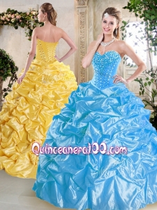 Luxurious Sweetheart Quinceanera Dresses with Beading and Pick Ups for Spring