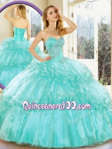 Simple and Affordable Sweetheart Quinceanera Gowns with Beading and Ruffled Layers for Summer