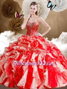 2016 Lovely Sweetheart Multi Color Quinceanera Dresses with Ruffles