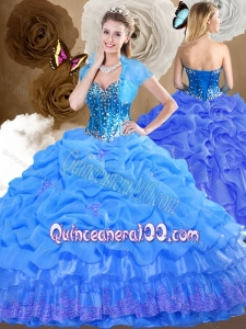 2016 Lovely Sweetheart Quinceanera Dresses with Beading and Pick Ups