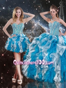 Pretty Sweetheart Multi Color Detachable Sweet 16 Dresses with Beading