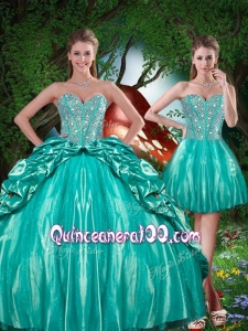 Summer Pretty Sweetheart Beading Detachable Quinceanera Dresses