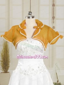 Simple Wedding Party Beading Shawls in Organza