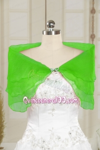 2014 New Style Beading Spring Green Shawls