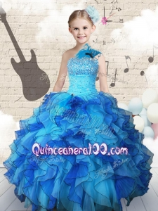 2016 Elegant Beading and Ruffles Mini Quinceanera Dresses in Multi Color