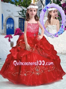 Top Selling Spaghetti Straps Mini Quinceanera Dresses with Beading and Bubles