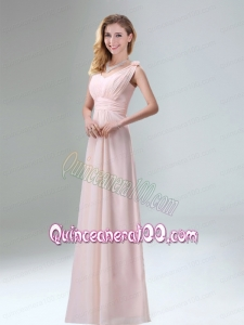 Beautiful Chiffon Dama Dress in Light Pink for 2015