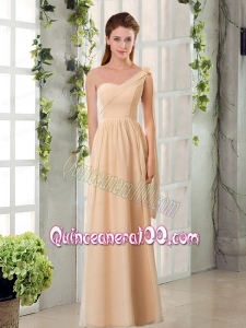 2015 Empire Chiffon Dama Dresses with Ruching