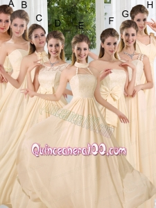 Empire Ruching 2015 Floor Length Dama Dress