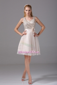 Princess Square Sash Tulle Sequins Mother of the Dress