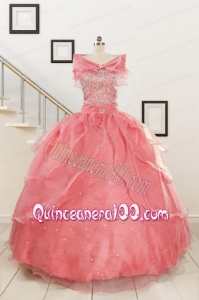 Pretty Beaded Ball Gown Sweetheart Quinceanera Dresses