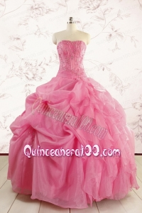 Cheap Strapless Quinceanera Dresses with Pick Ups and Wraps
