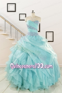 Beading and Ruffles Pretty Quinceanera Dresses for 2015