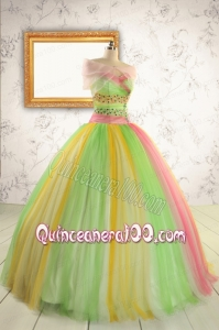 2015 Elegant Sweet 16 Dresses in Multi-color with Beading