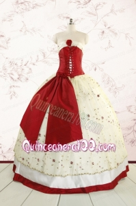 Most Popular Multi Color Quinceanera Gowns with Appliques and Bowknots