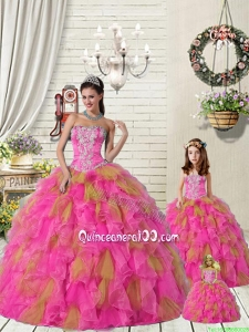 2015 Top Seller Multi-color Princesita Dress with Ruffles and Beading