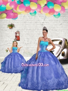 Most Popular Blue Princesita Dress with Beading and Embroidery for 2015