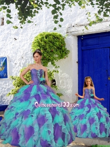 Trendy Beading and Ruffles Multi-color Princesita Dress for 2015 Spring