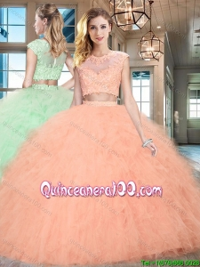 New Style Zipper Up Floor Length Sweet 16 Dress with Appliques and Ruffles