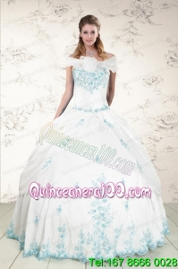 Appliques Strapless Lovely Quinceanera Dresses for 2015