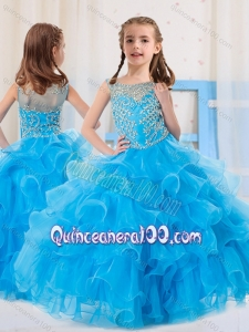 Ball Gowns Scoop Organza Side Zipper Beaded Bodice Mini Quinceanera Dress