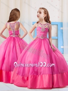 Fashionable Ball Gowns Scoop Mini Quinceanera Dress with Side Zipper
