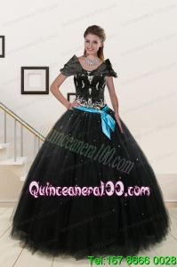 Perfect Appliques and Beading Quinceanera Dresses in Black