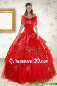 Perfect Strapless Quinceanera Dresses with Appliques