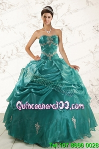 2015 Ball Gown Traditional Quinceanera Dresses with Appliques