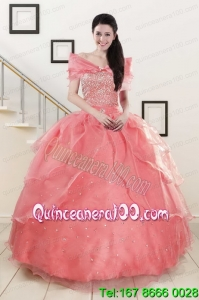 Traditional Beaded Ball Gown Sweetheart Quinceanera Dresses