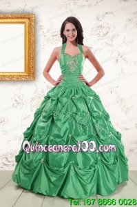 Traditional Halter Top Quinceanera Dresses with Appliques