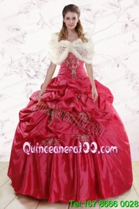 Traditional Strapless Appliques Quinceanera Dresses