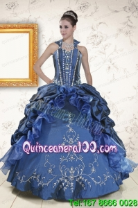 Traditional Sweetheart Navy Blue Quinceanera Dresses with Beading