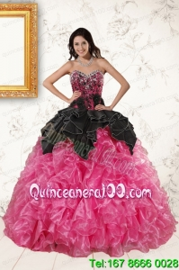 Trendy Multi Color Ball Gown Ruffled Sweet 16 Dresses