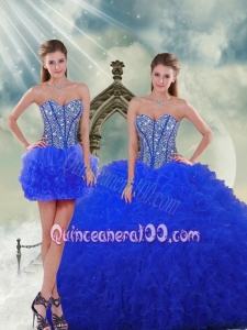 Most Popular Royal Blue Quinceanera Dresses with Beading and Ruffles for 2015